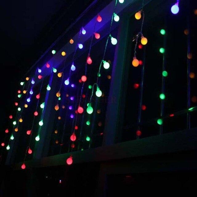 Aliexpress Buy 1 5x0 5m 48 Matte Balls LED Christmas String