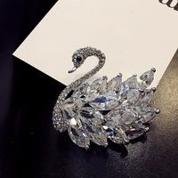 Luxury Crystal Swan Love Fashion Accessories Accessories Korean Pearl Collar Pin Button Brooch Brooch