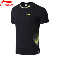 Li-Ning, мужские футболки для бадминтона, национальная команда, спонсор, фанаты, версия ATDRY, дышащая подкладка, Спортивная футболка для соревнований, AAYN261 MTS2892