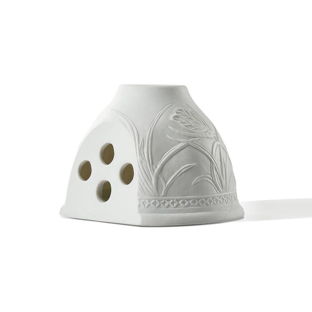 nordic simples ceramica branca conduziu luz 02