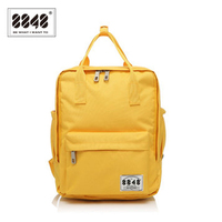 8848 Brand 100 Polyester Yellow School Bag Backpacks For Teenage Girls Small Knapsack Mochila Escolar Lona