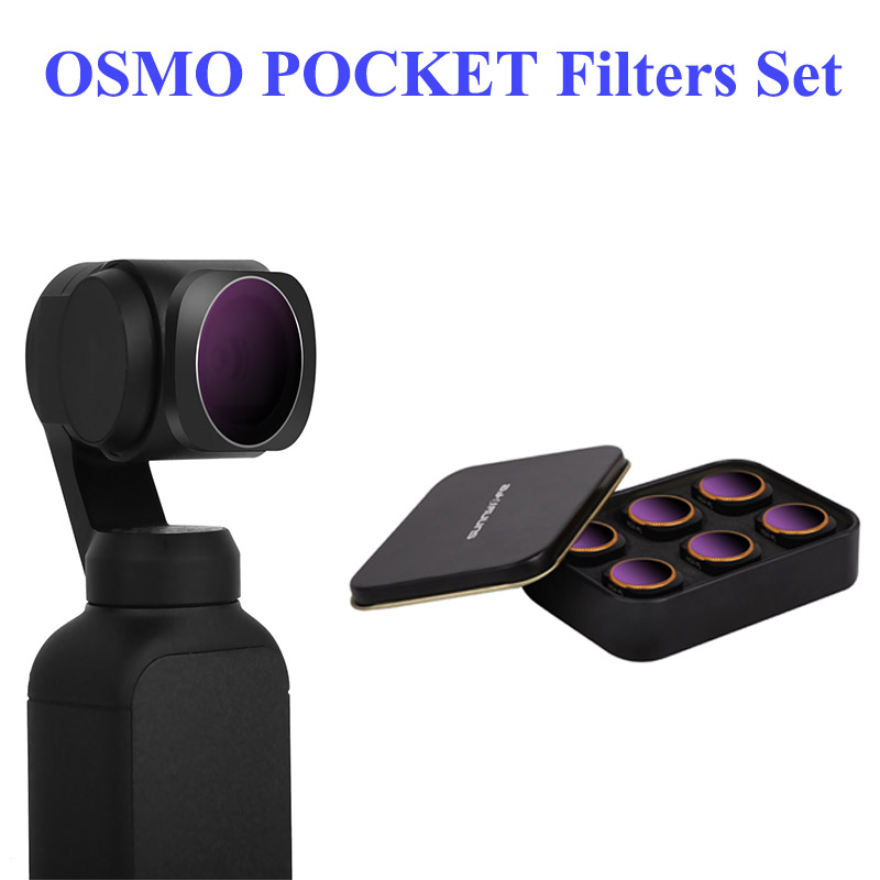 New Optional Camera Lens Filter Kit OSMO POCKET ND4/8/16/32/64 PL CPL UV Filters Set for DJI OSMO POCKET-in Sports Camcorder Cases from Consumer Electronics