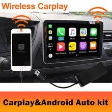 2019 беспроводной автомобильный радиоприемник Apple CarPlay & Android, USB ключ с сенсорным экраном для Android, навигационная dvd система