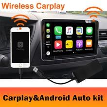 2019 Auto Senza Fili radio Apple CarPlay e Android Auto link DONGLE USB con Controllo Touch Screen per Android di Navigazione DVD sistema di