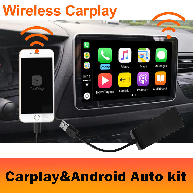 2019 Wireless Car radio Apple CarPlay & Android Auto link USB DONGLE with Touch Screen Control for Android Navigation DVD System-in Car Radios from Automobiles & Motorcycles