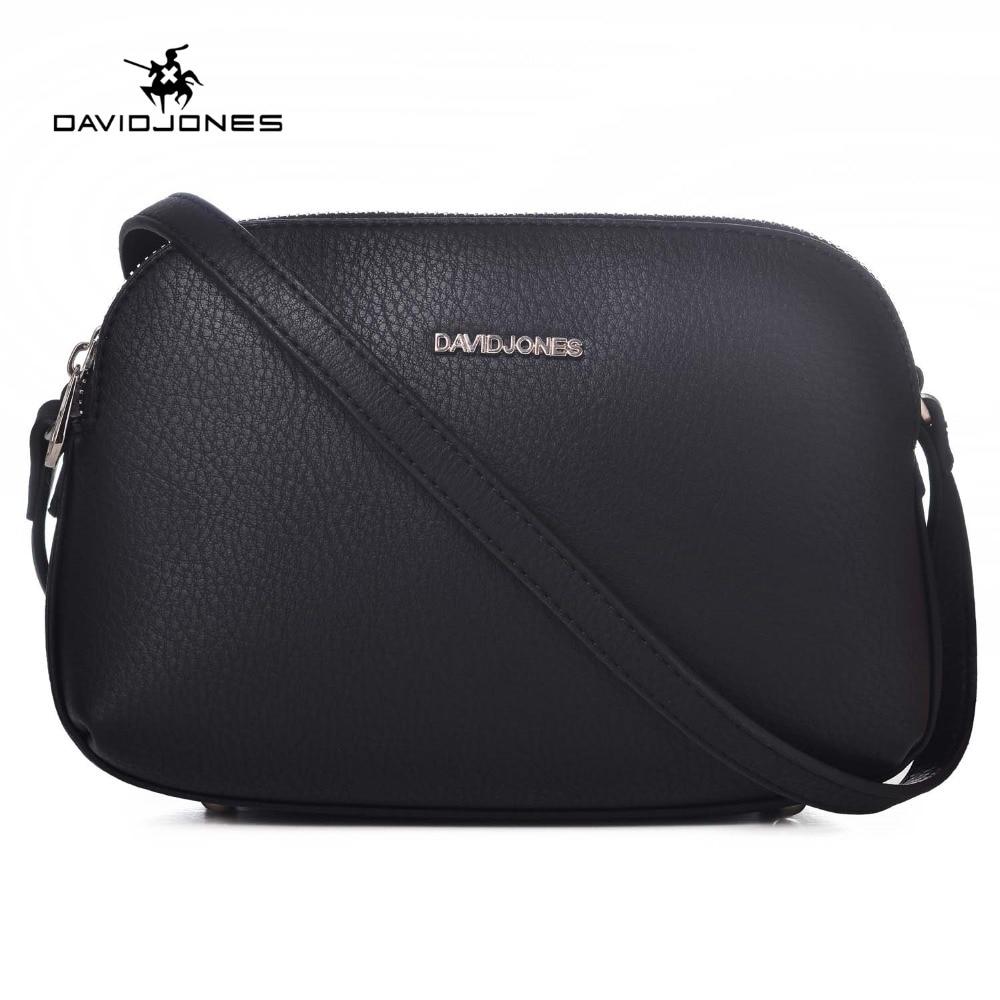 DAVID JONES Women Handbags Pu Leather Female Messenger Bags Smart Lady Casual Shoulder Bag Girl Crossbody Bag Drop Shipping