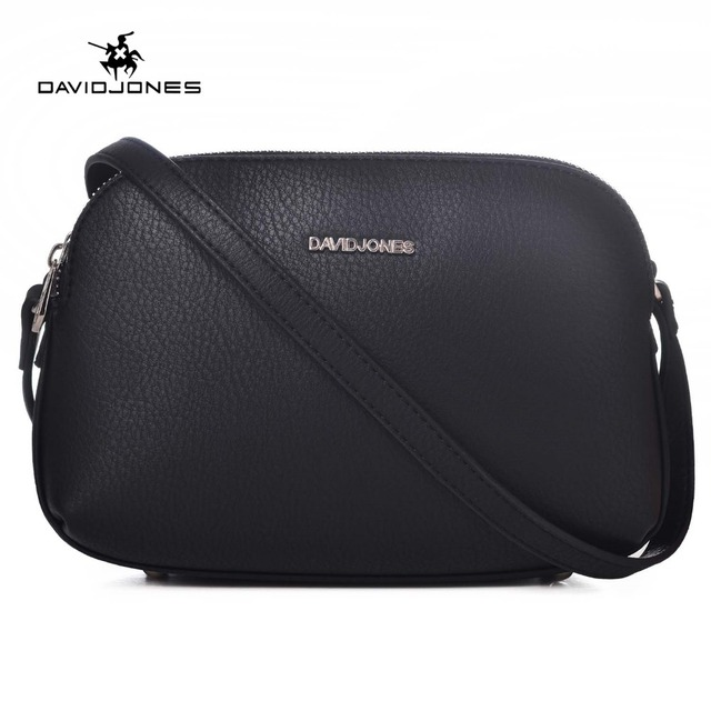 14305f83757 DAVIDJONES women handbags pu leather female messenger bags smart lady  casual shoulder bag girl brand crossbody bag drop shipping