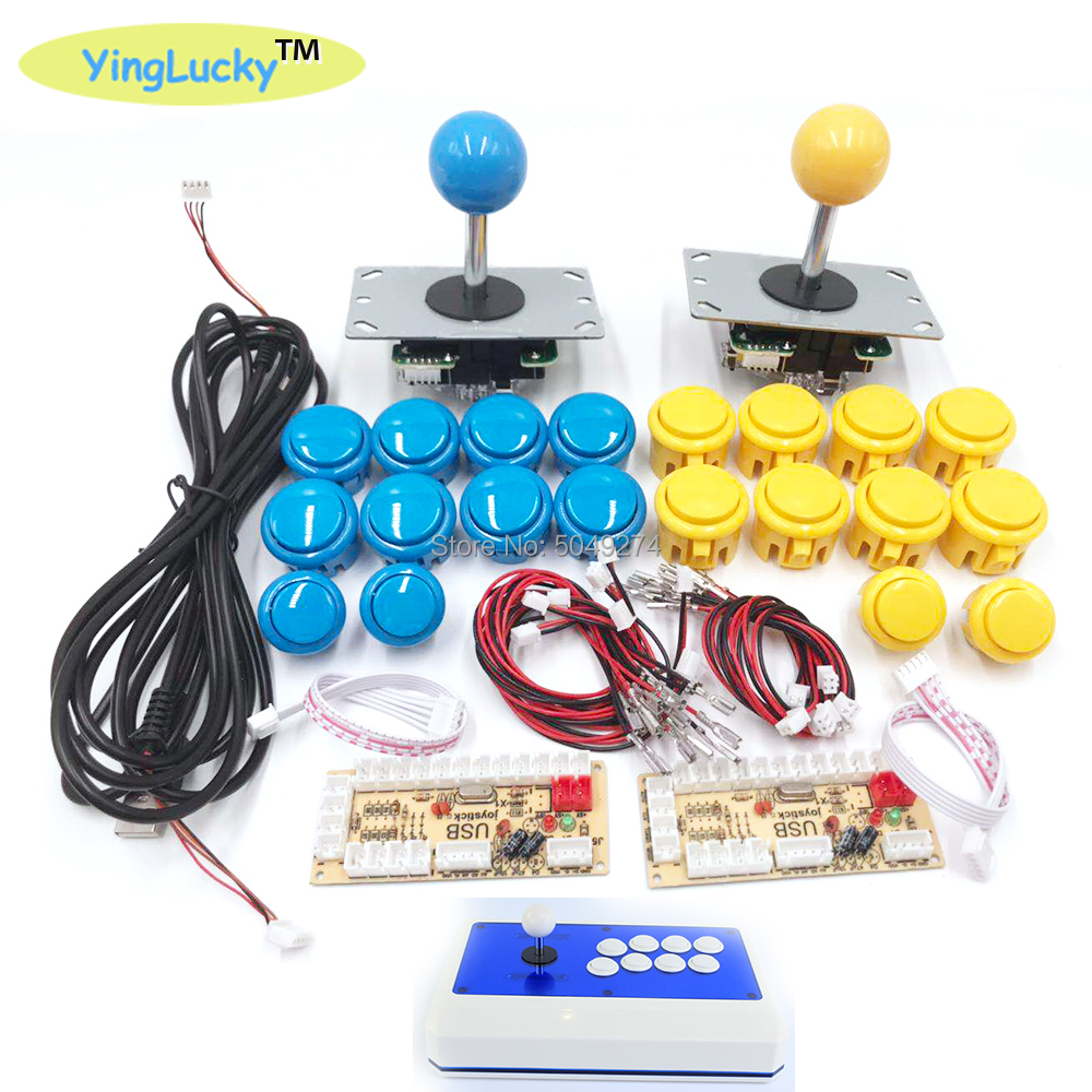 Sanwa Джойстик Аркада DIY Kit Zero Delay Arcade DIY Kit USB энкодер для ПК PS3 Джойстик sanwa для аркадных игр и кнопочных кнопок для jamma