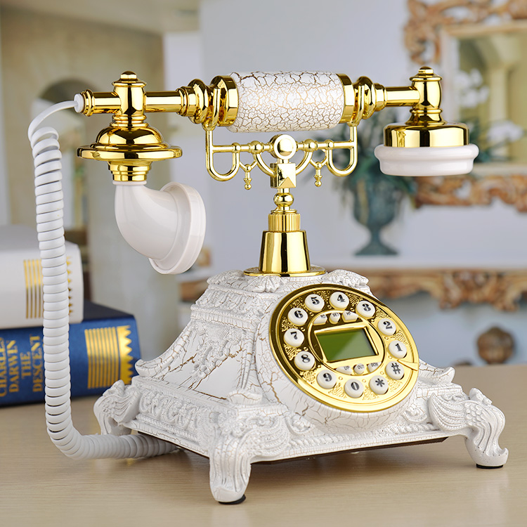 European Fashion Vintage fixed Telephone made of resin quadrate Landline Phone For Office Home Hotel telefono fijo ev telefonu