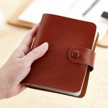 Wholesale New Credit Card Holder Split Leather Large Capacity Business ID Holders Women Men Organizer 60 Slots