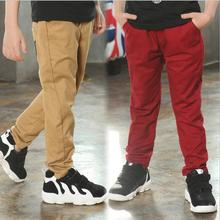 4-14 years 2016 autumn winter boys pants cotton children kids pants trousers big teenage boys pants clothes clothing retail
