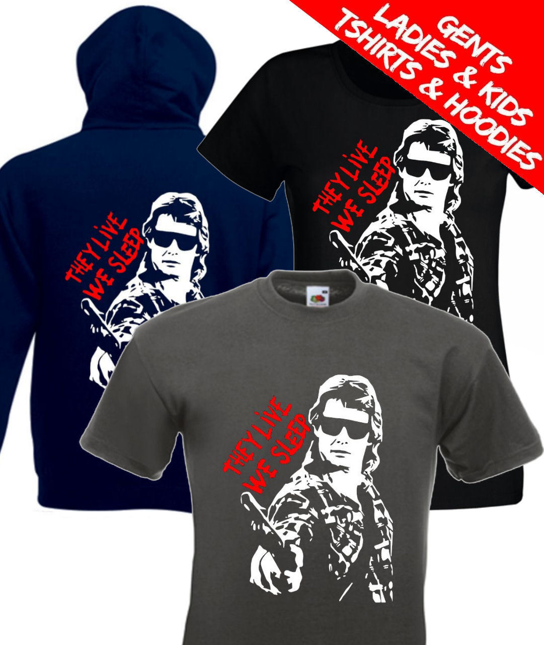 2019 Cool They Live Roddy Piper Retro John Carpenter Movie T Shirt / Hoodie Tee Hoodie