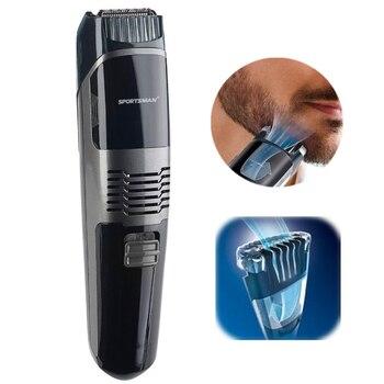 Профессиональный вакуумный триммер для бороды, машинка для стрижки волос для мужчин, машинка для стрижки бороды, инструмент для формирования усов, станок для бритья, набор для ухода