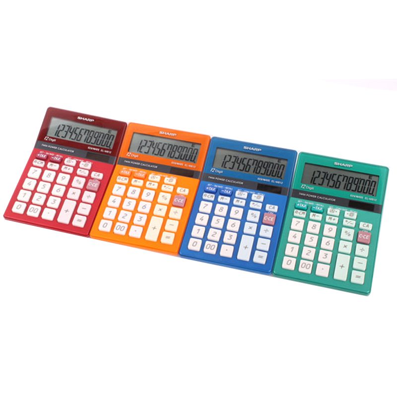 Sharp EL-M812B Calculator Colorful Colorful Tax Rate Calculation Office Finance Color Computer rectifier diode rsk1101 free fast shipping