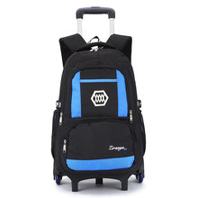 kids Travel luggage Rolling Bags School Trolley bag Backpack On wheels Girl's children Trolley School backpack wheeled bags boys(China)