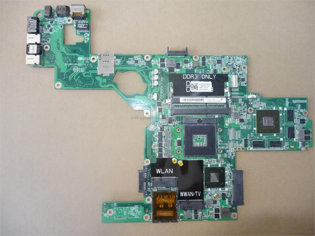 Материнская плата для ноутбука Dell XPS L502X 0714WC CN-0714WC HM76 DDR3 GT540 2 Гб, материнская плата