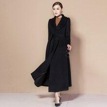 2018 Winter Coat Women Warm Wool Long Womens Cashmere European Fashion Outwear casacos