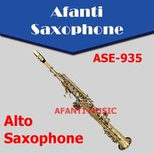 Afanti Music Bb tone / Brass body / Bronze Soprano Saxophone (ASE-935)