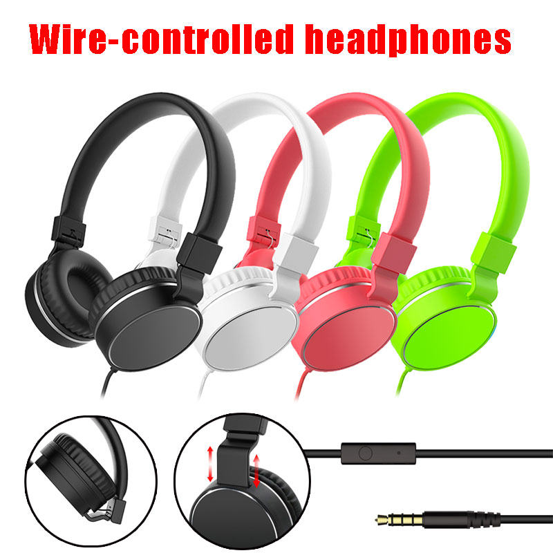 Colorful Fashion Headphones Earphones Candy Color Foldable Kids Headset with Microphone For Mobile Phone MP3  Player Headsets
