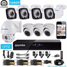 Eyedea 8 CH HDMI DVR NVR 1080P 5500TVL  36x Zoom PTZ Speed Dome Coaxial Control Night Vision Outdoor CCTV Security Camera System