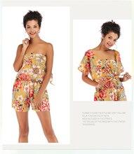 Women's Fashion Chiffon Suit And One-neck print short-sleeved shirt + shorts two-piece Women Set цена