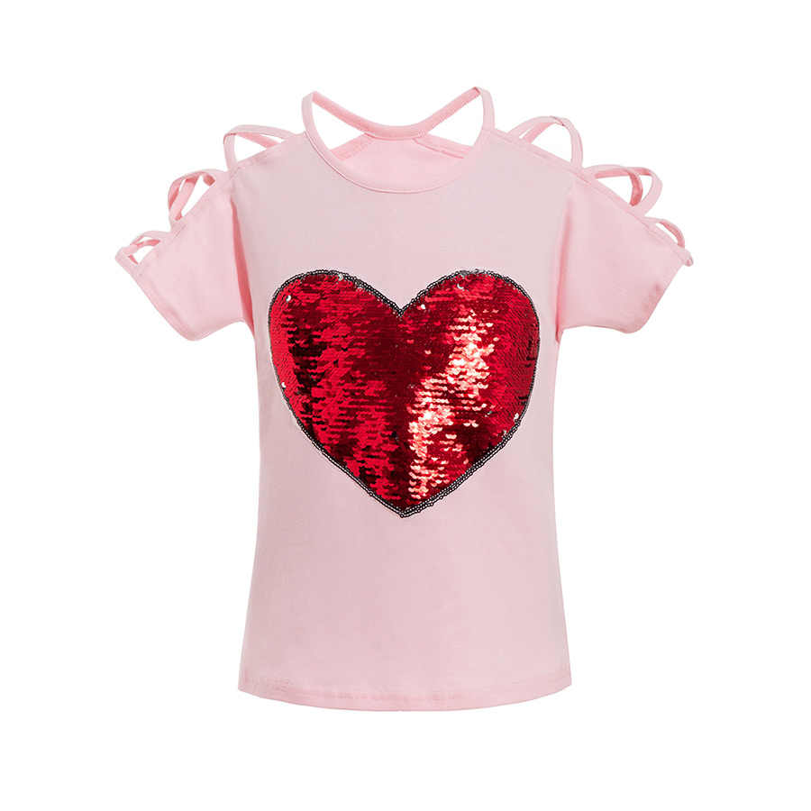 cf3b8cb7 LCJMMO 2018 Summer Cotton Short Sleeves T-Shirts For Girls Tops & Tees Kids  Clothes