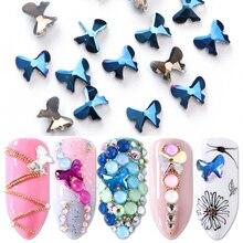 10 шт Стразы для ногтей, дизайн с хрустальным бантом, стразы для дизайна ногтей, украшение с плоской задней частью, камни, драгоценный камень, 3D Маникюр, очаровательные ювелирные изделия JI866