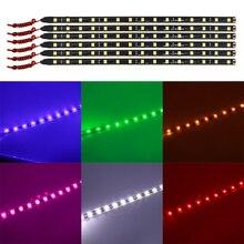 4 шт 30 см Авто декоративные лампы Красочный Светодиодные ленты огни 15 светодиодный 5050 15 SMD гибкие полосы света лента дневного лампы