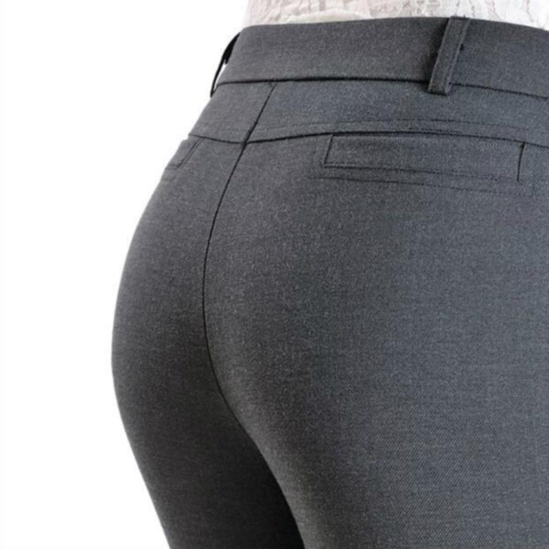 Évasé Nouveau Décontracté Femmes Mode wine Taille Pantalon noir Haute Et Grande Automne 2018 Gray Légèrement 79122 Red Filles Printemps Vêtements q4dx7w4X