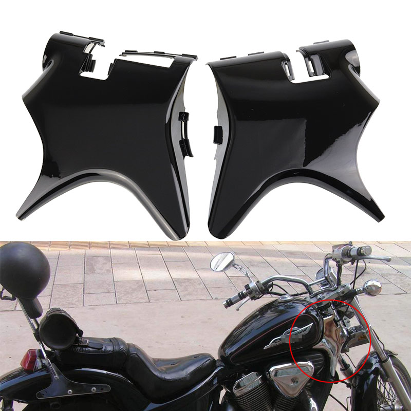 For Honda Shadow VT 600 VLX 600 STEED400 1988-1998 Front Cowl Neck Cover Chrome/Black ABS Plastic Frame Cover Side Faring Guard chrome switch housing cover for honda shadow 600 vt 750 1300 vtx vt1300c vlx ace