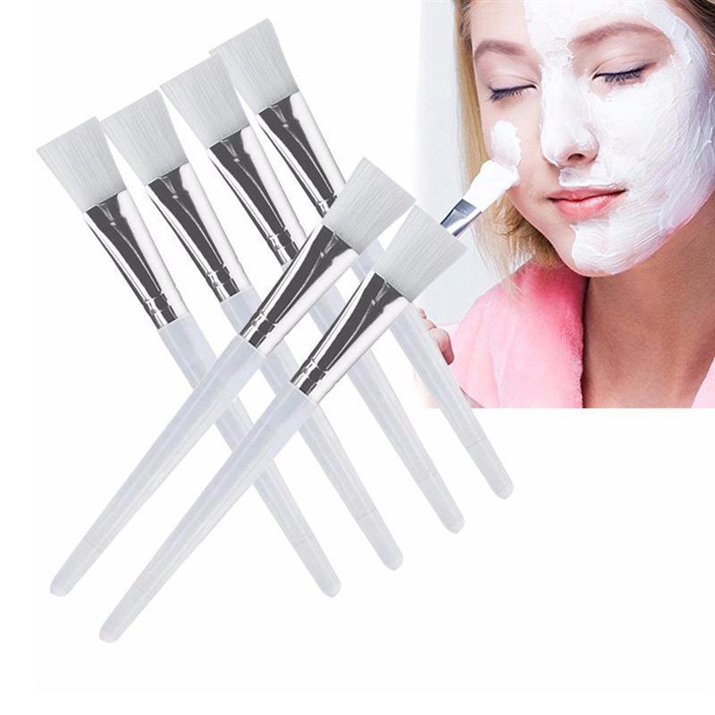 5 шт., кристалл, маска для лица, щетка для женщин, для лечения лица, маска для лица, аппликатор, кисть с пластиковой ручкой, инструмент для маки...