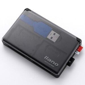 Image 5 - Llano 4 en 1 USB 3,0 lector de tarjetas inteligentes para SD/TF tarjetas de memoria Flash Multi lector de tarjetas 2 tarjetas de lectura simultánea escribir