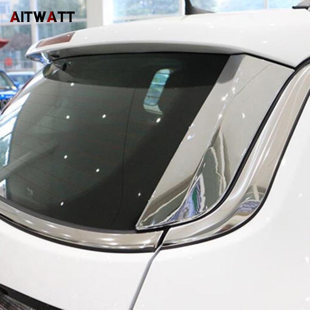 Pour Jeep Compass 2017 2018 ABS Chrome Lunette arrière Côté Aile Couverture de Moulage 2 pièces Voiture Autocollants Style AITWATT