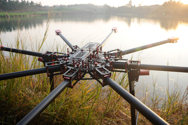 carbon fiber 1180mm 25mm large scale professional foldingfoldable octocopter frame for aerial photography