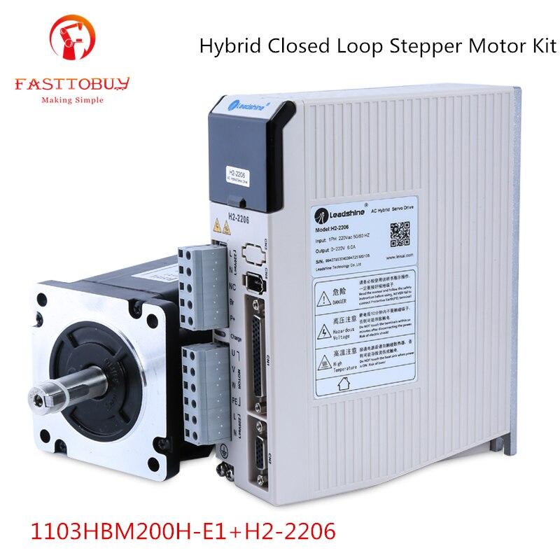 20Nm NEMA42 Hybrid Closed Loop Stepper Motor Kit 1103HBM200H-E1+H2-2206 3 Phase Leadshine Easy Servo Kit ES-MH342200+ES-DH2306 leadshine nema42 hybrid servo closed loop 20nm 3ph stepper motor driver kit 3meter encoder cable es mh342200 es dh2306