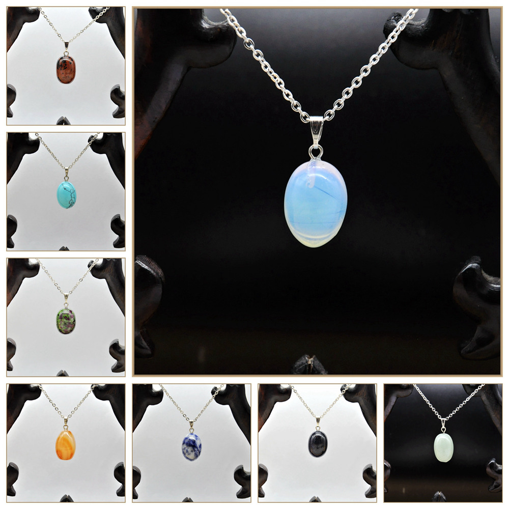 Yumten Natural Crystal Set Of 12 Sets Water Droplets Male And Female Common Necklace Ruby Jewelry Peridot Pendant Collares Muje