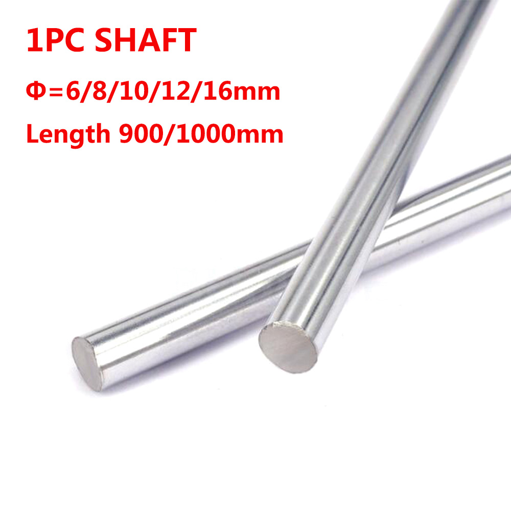 1PC 6mm 8mm 10mm 12mm 16mm OD Linear Shaft Length 900mm/1000mm for 3D Printer Cylinder Liner Rail Axis CNC Parts 1pc 8mm 8x100 linear shaft 3d printer 8mm x 100mm cylinder liner rail linear shaft axis cnc parts