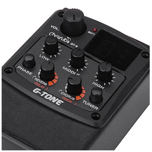 ADDFOO Cherub G-Tone GT-6 Acoustic Guitar Preamp Piezo Pickup 3-Band EQ Equalizer LCD Tuner with Reverb/Chorus Effects