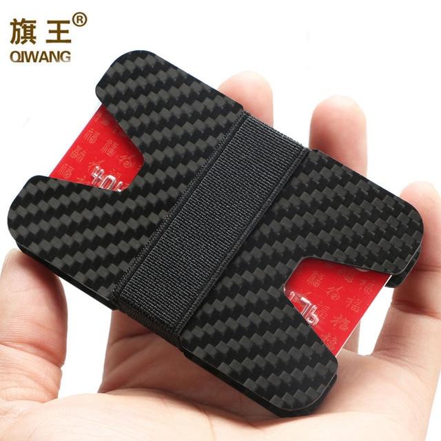 Qiwang 100 real carbon fiber slim wallet 3k carbon credit card qiwang 100 real carbon fiber slim wallet 3k carbon credit card holder for men luxury colourmoves