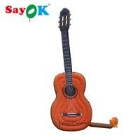 Sayok гигантские надувные гитары воздушные шары 4 м/13,1 футов для концерт музыкальный инструмент магазин украшения