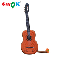 Sayok Giant Inflatable Guitar Air Balloons 4 meters/13.1 Feet High for Concert Musical Instrument Store Decoration