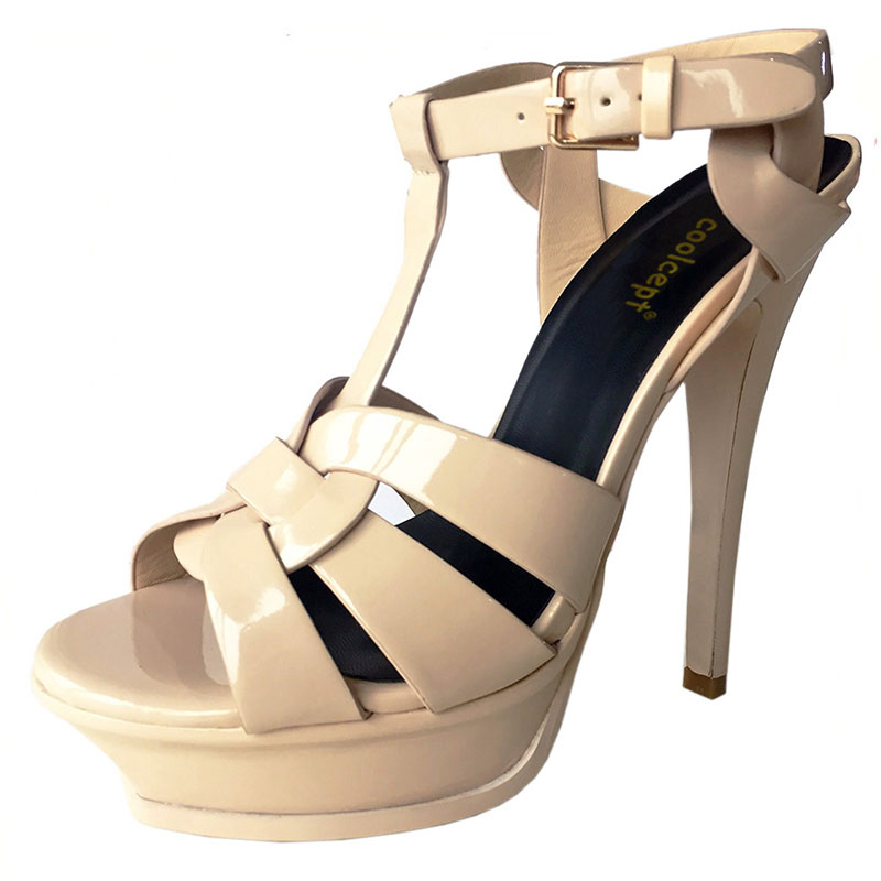 Coolcept free shipping quality genuine leather high heel sandals women sexy footwear fashion lady shoes R4425 hot sale 33-40 free shipping good selling buy cheap Cheapest release dates cheap online wJg8BG