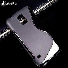 Black Phone Case For Samsung Galaxy SV I9600 S5 G900 G900F G9006V Frosted Ultra Thin soft S Line For Samsung s5 Cover