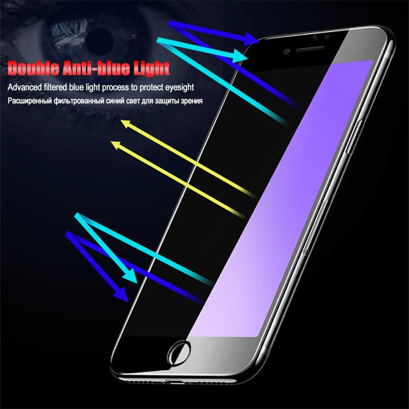 LuckGuard 5D completa de la cubierta de borde de vidrio templado para iPhone 7 Plus 6 6 s Plus X 10 Protector de pantalla para iPhone XS MAX XR Xs en la película