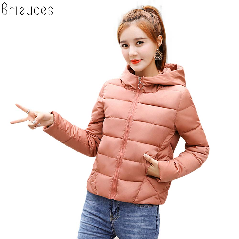 Brieuces Winter Jacket women 2018 New Autumn Coat Women Woman Parkas Outerwear Short Down Female