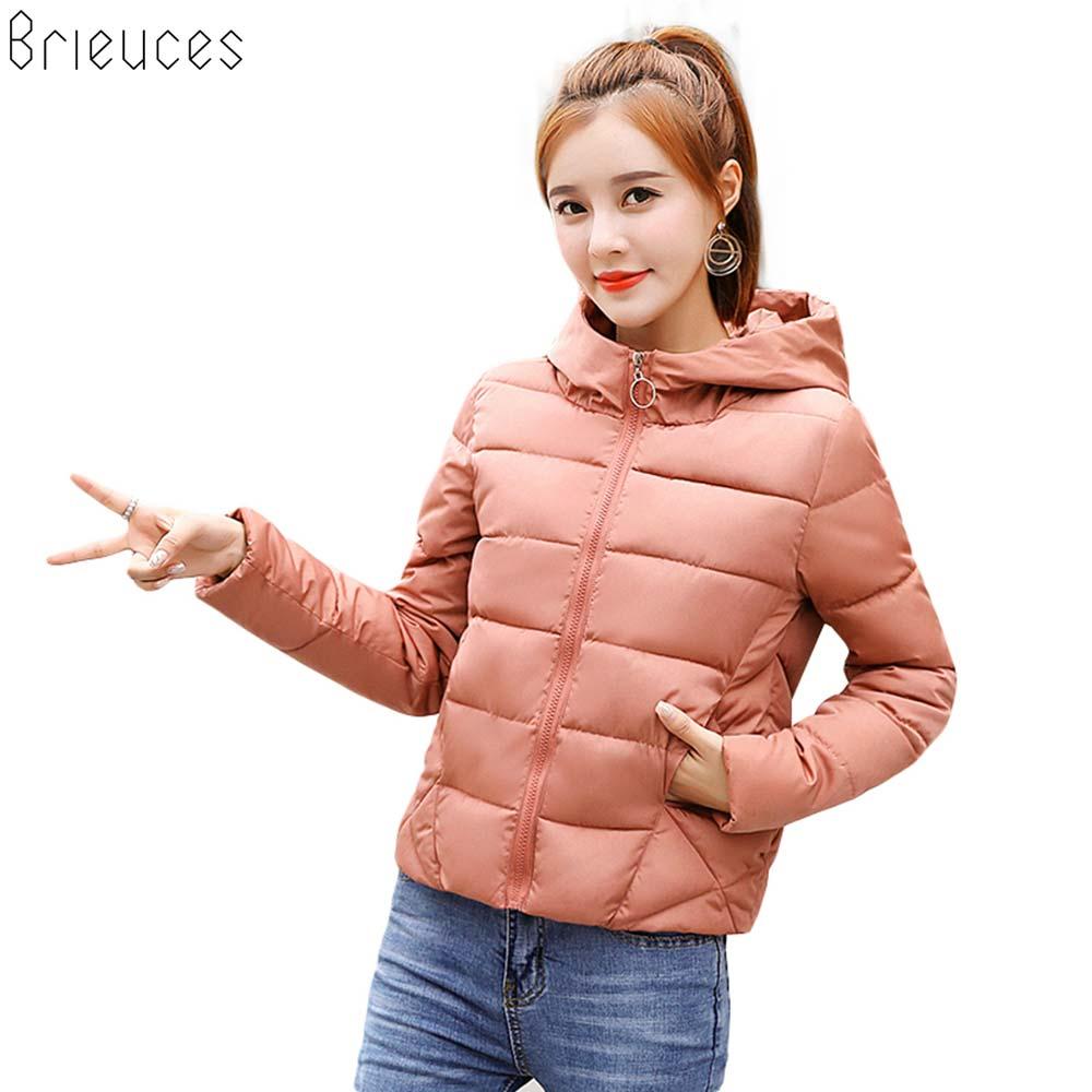 Brieuces Winter Jacket women 2018 New Autumn Winter Coat Women Jacket Woman   Parkas   Outerwear Short Down Jacket Winter Female
