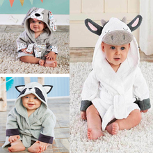 Детские халаты для новорожденных; спальный халат с капюшоном и рисунком; одежда для сна; Infantil; Банное полотенце; одежда для маленьких девочек