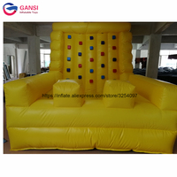 4*3*3m inflatable air mountain game kids durable inflatable rock climbing wall