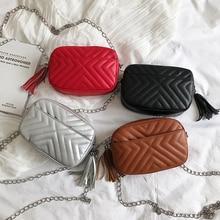 QIUYIN Female Chain Envelope Shoulder Bag Belt New Women's Waist Bag Fashion Leather Serpentine Fanny Pack for Women