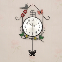 Modern Design Wall Clocks Kitchen Pow Patrol Acrylic Birds Large Clock Wall Watch Living Room Watch Mechanism Decoration 50ZB048